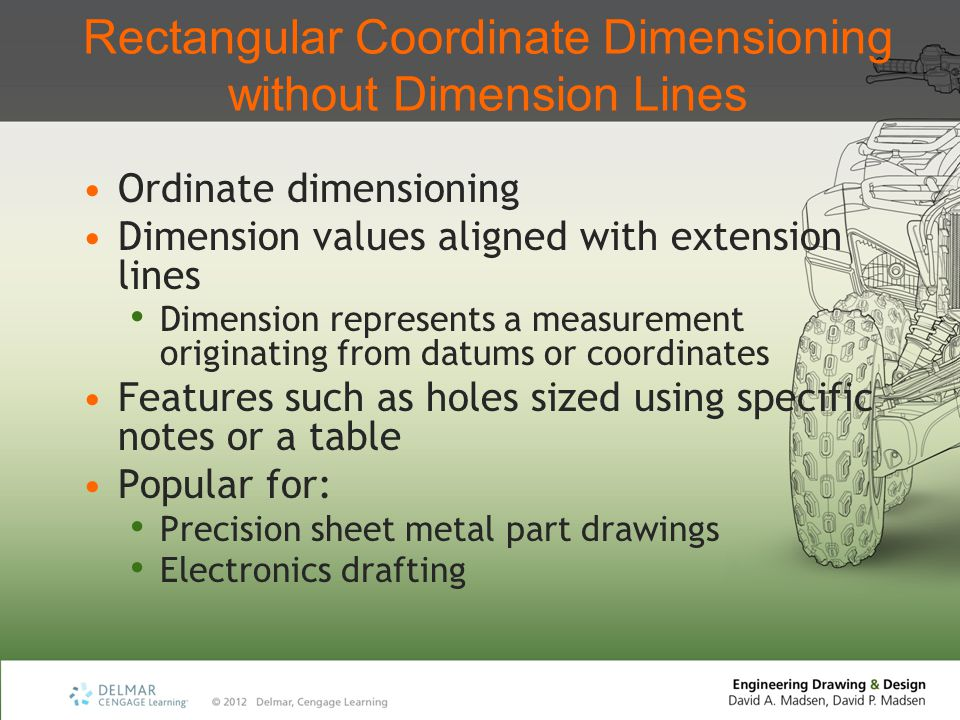 Rectangular Coordinate Dimensioning without Dimension Lines