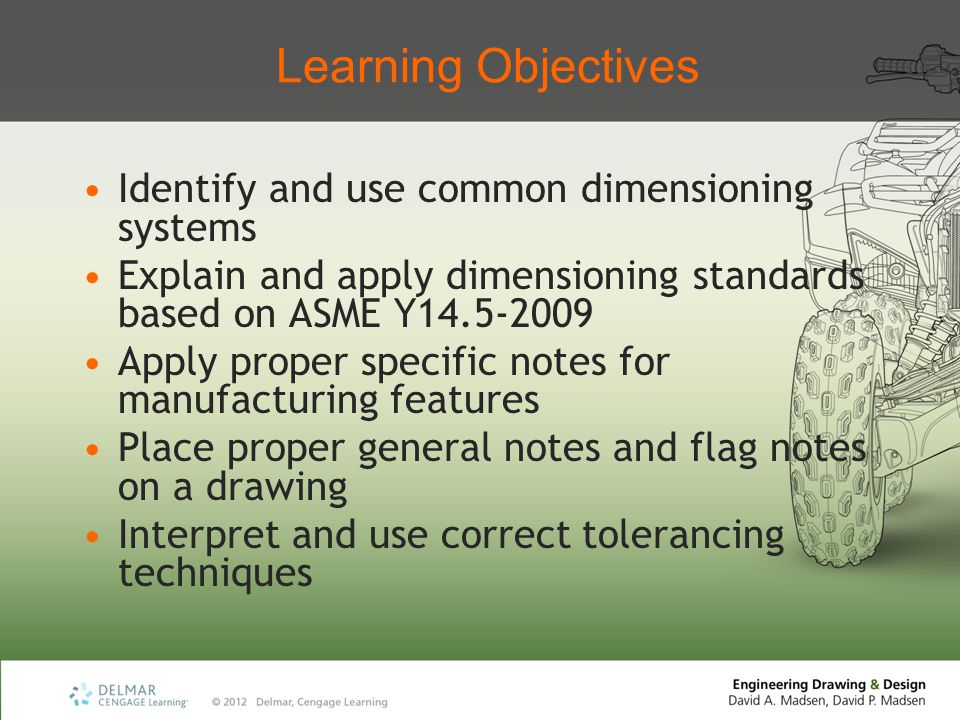 Learning Objectives Identify and use common dimensioning systems