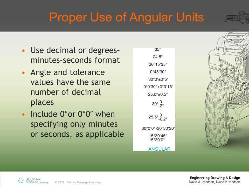 Proper Use of Angular Units