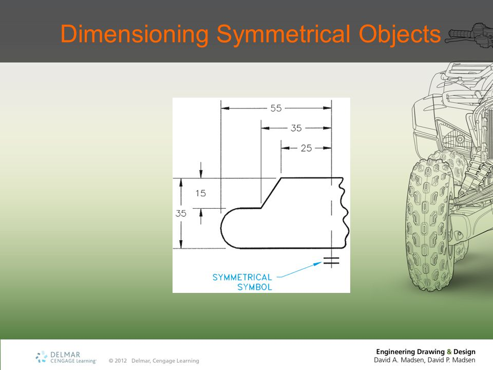 Dimensioning Symmetrical Objects