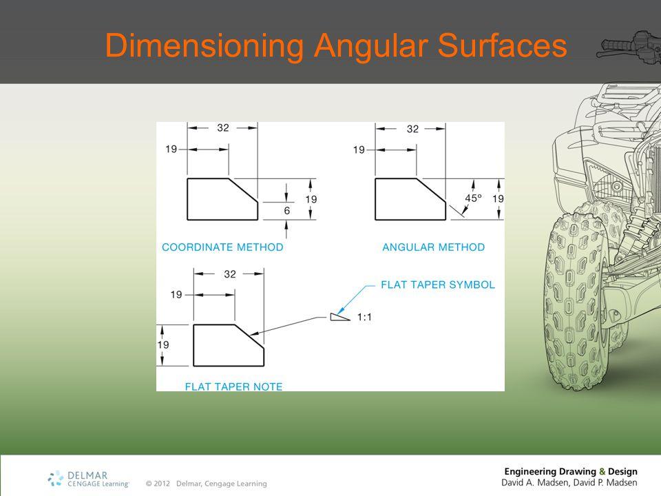 Dimensioning Angular Surfaces