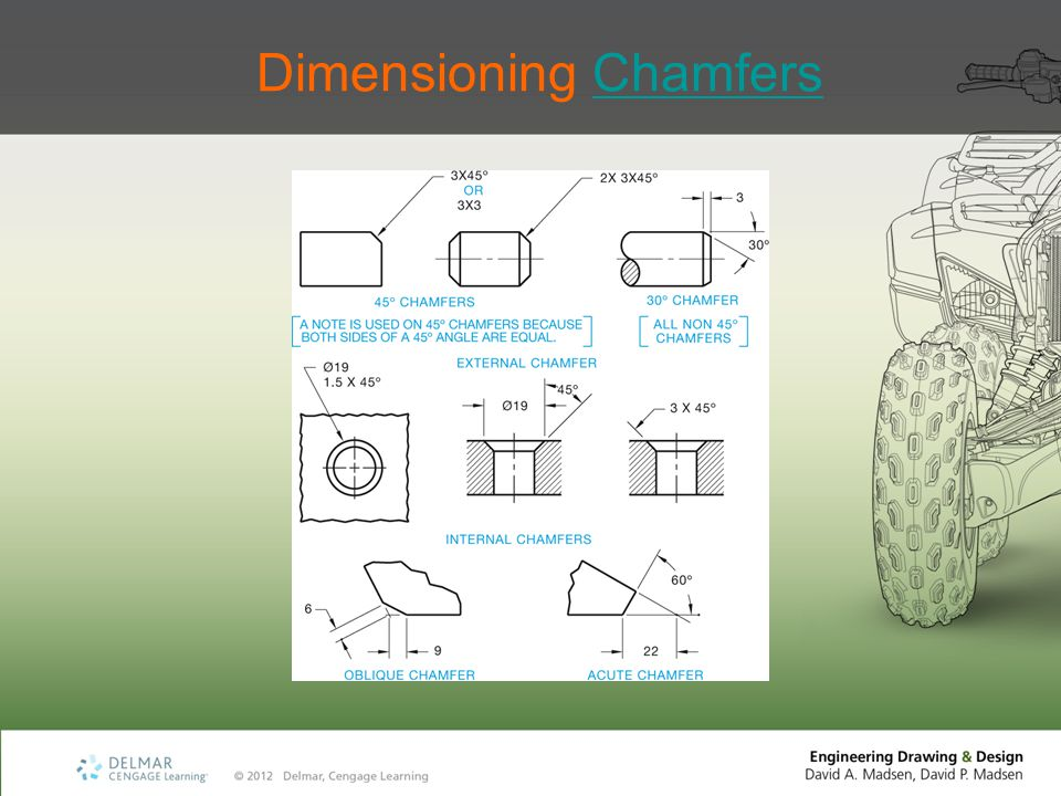 Dimensioning Chamfers