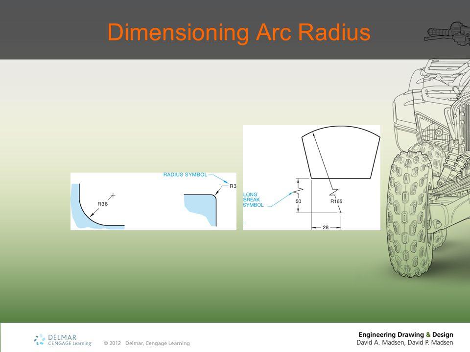 Dimensioning Arc Radius