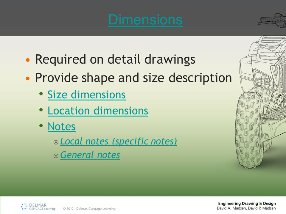 Dimensions Required on detail drawings