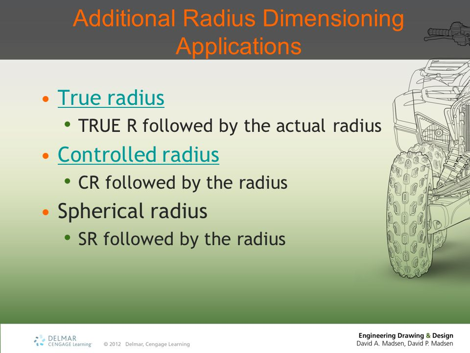 Additional Radius Dimensioning Applications