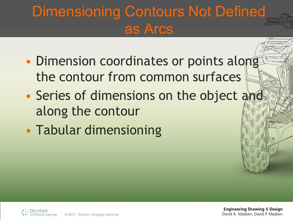 Dimensioning Contours Not Defined as Arcs