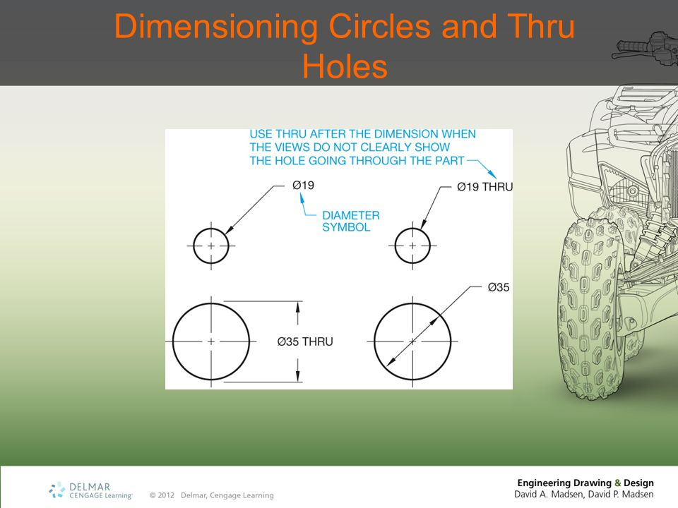 Dimensioning Circles and Thru Holes