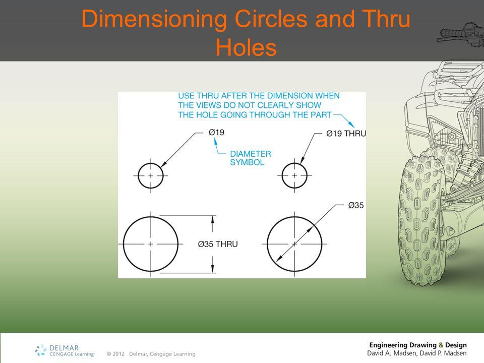 Dimensioning Circles and Thru Holes