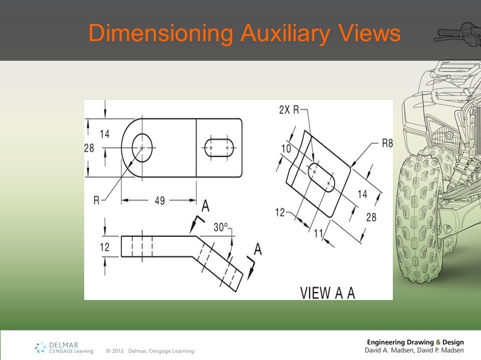 Dimensioning Auxiliary Views