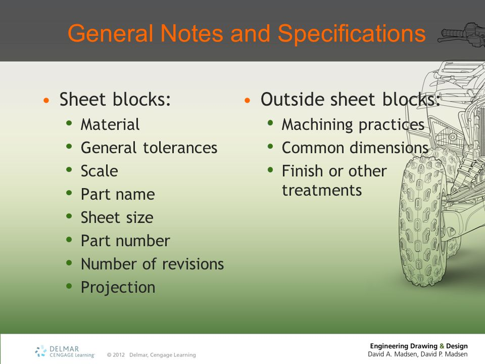 General Notes and Specifications