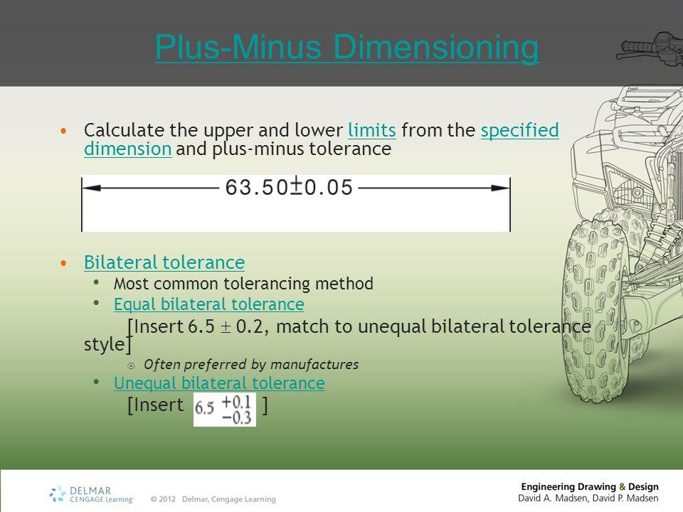 Plus-Minus Dimensioning