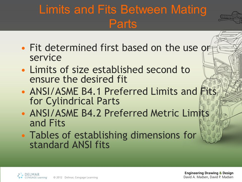 Limits and Fits Between Mating Parts
