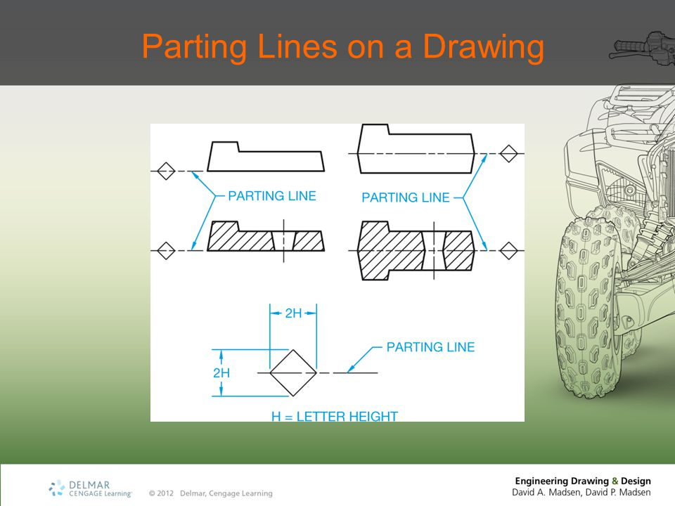 Parting Lines on a Drawing