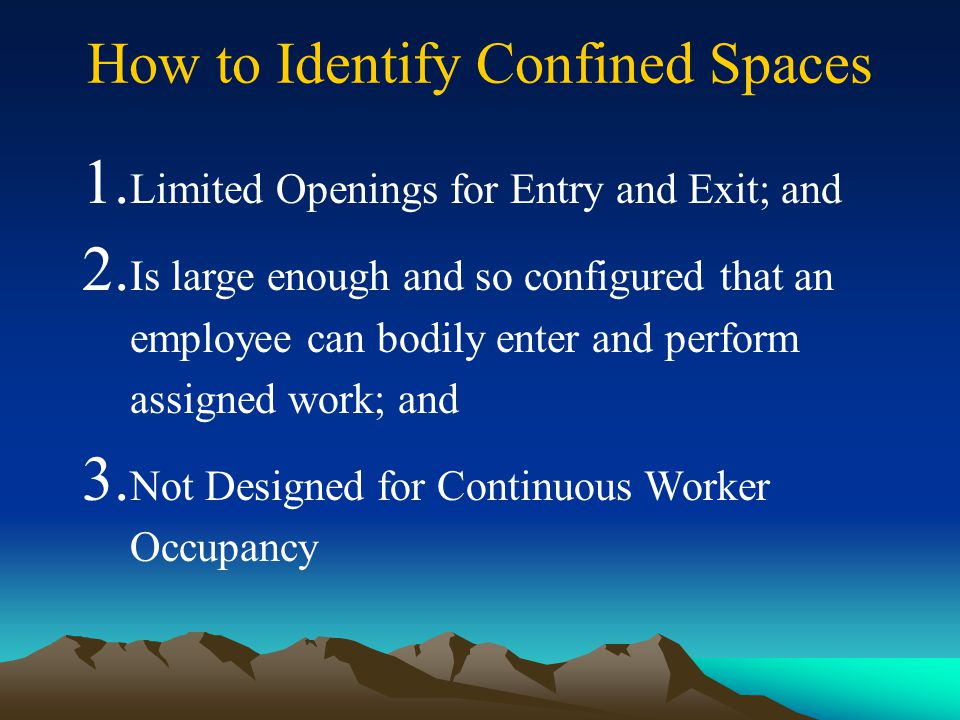 How to Identify Confined Spaces
