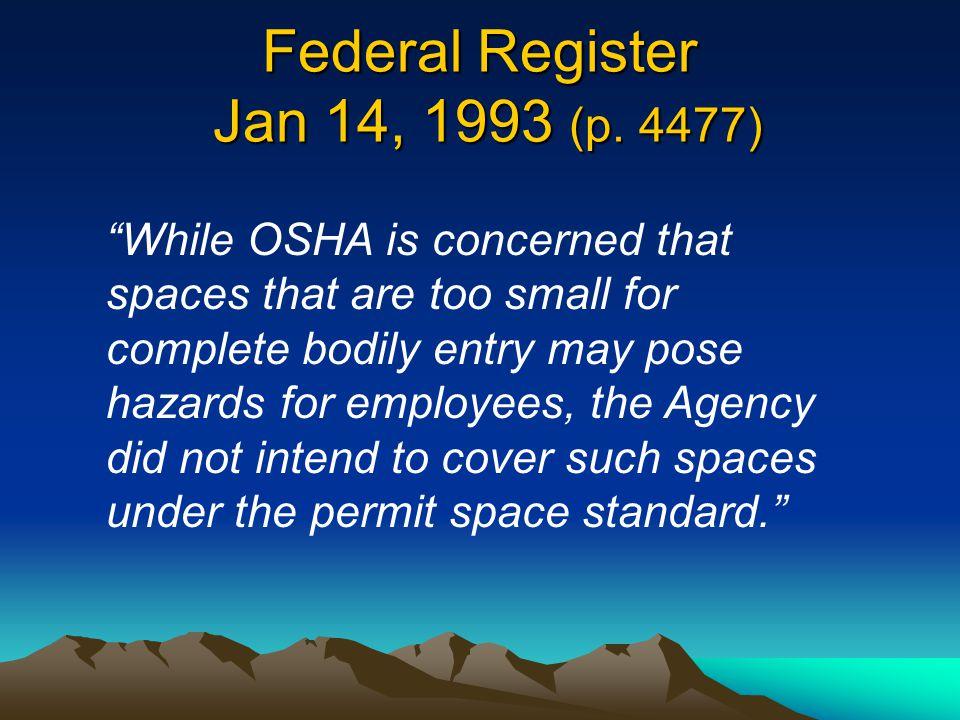Federal Register Jan 14, 1993 (p. 4477)