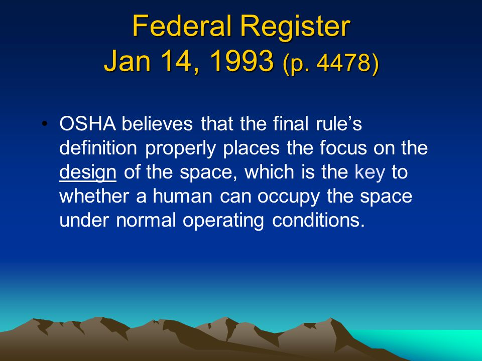 Federal Register Jan 14, 1993 (p. 4478)