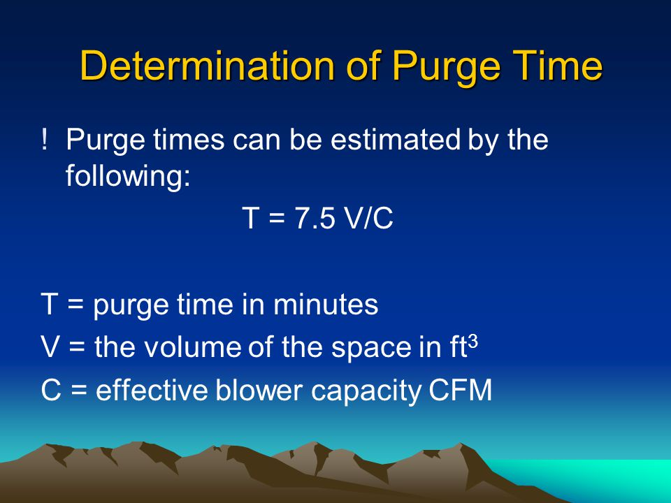 Determination of Purge Time