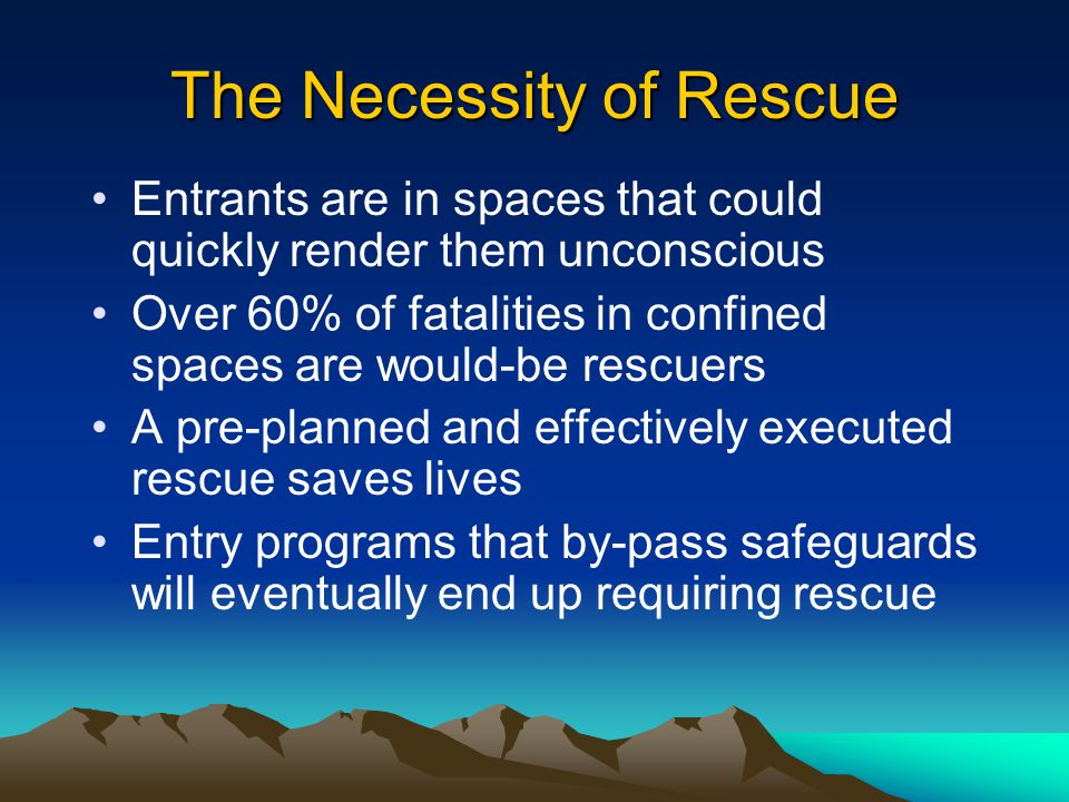 The Necessity of Rescue