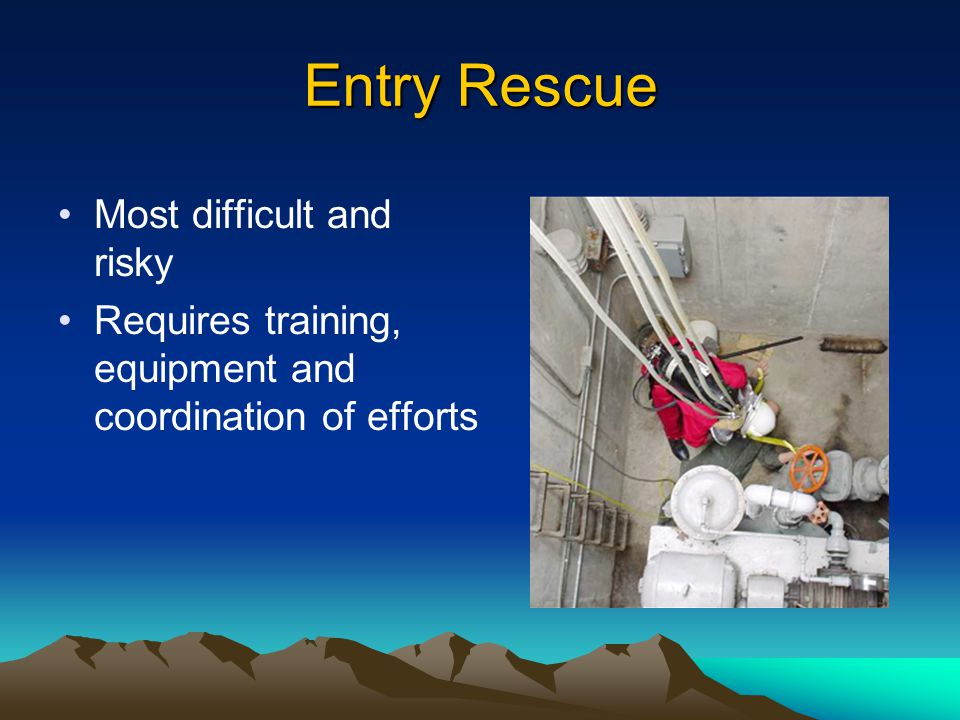 Entry Rescue Most difficult and risky