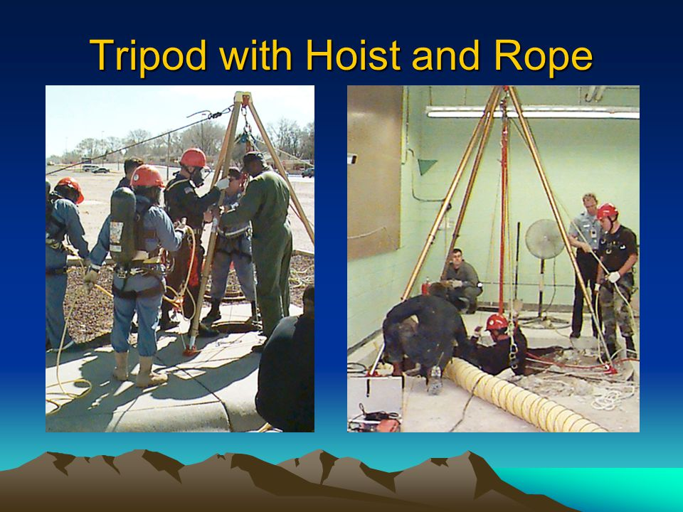 Tripod with Hoist and Rope