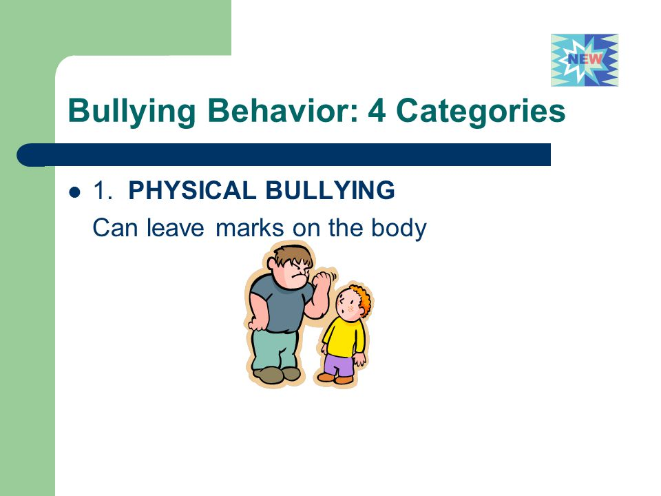 Bullying Behavior: 4 Categories
