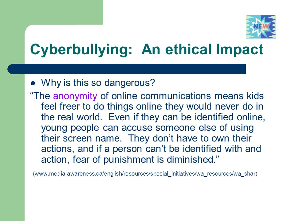 Cyberbullying: An ethical Impact