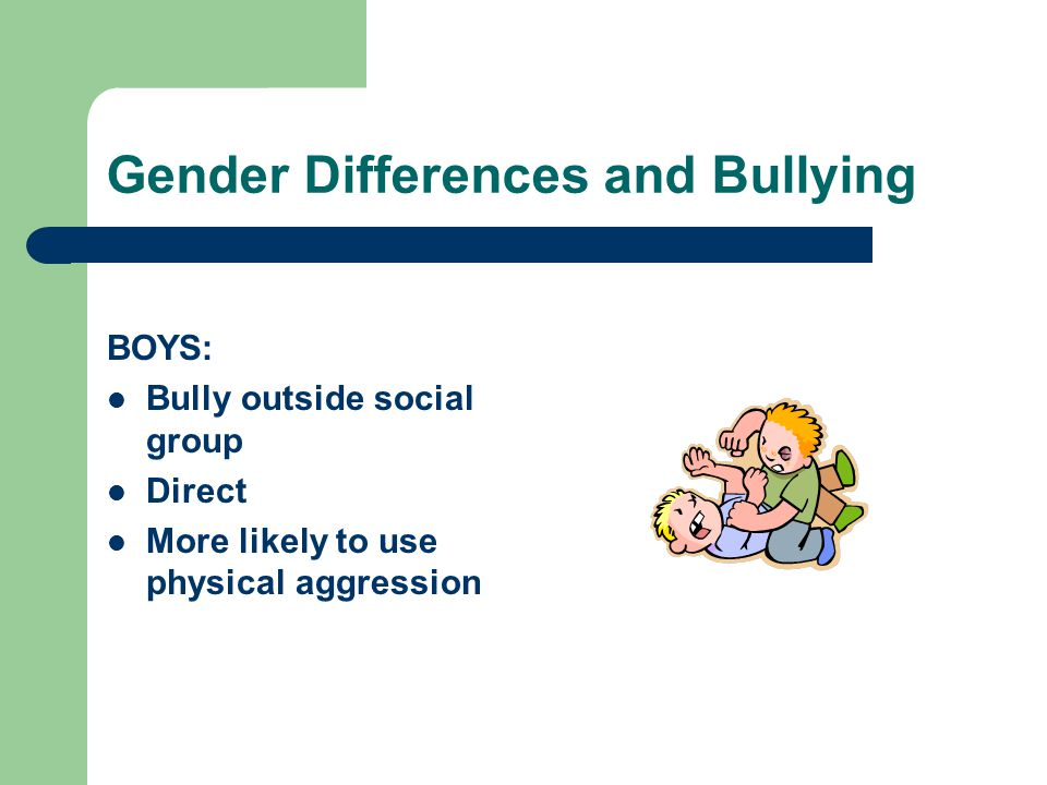 Gender Differences and Bullying