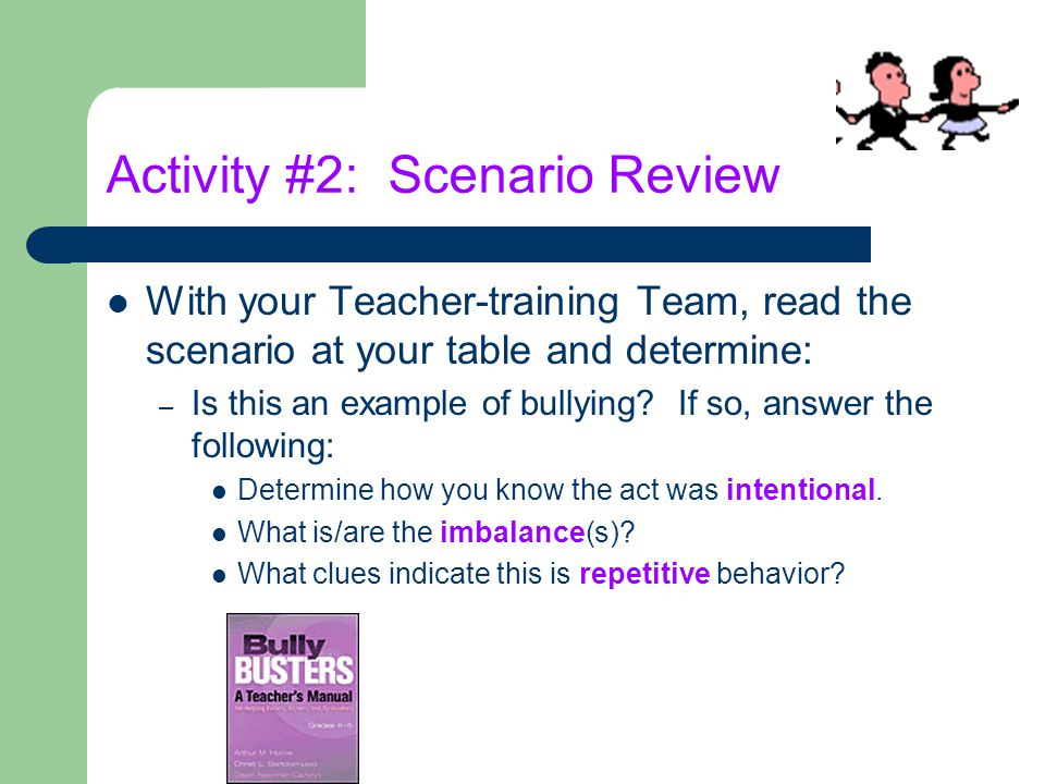 Activity #2: Scenario Review