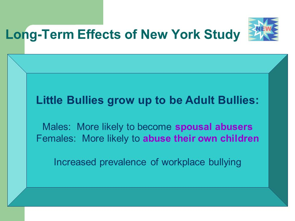 Long-Term Effects of New York Study