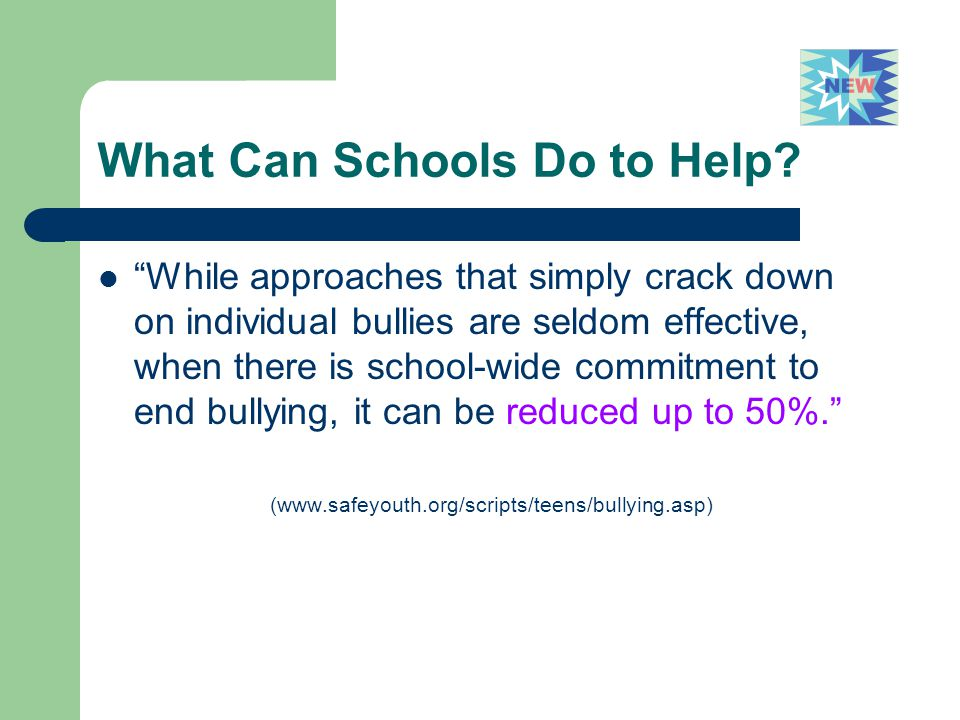 What Can Schools Do to Help