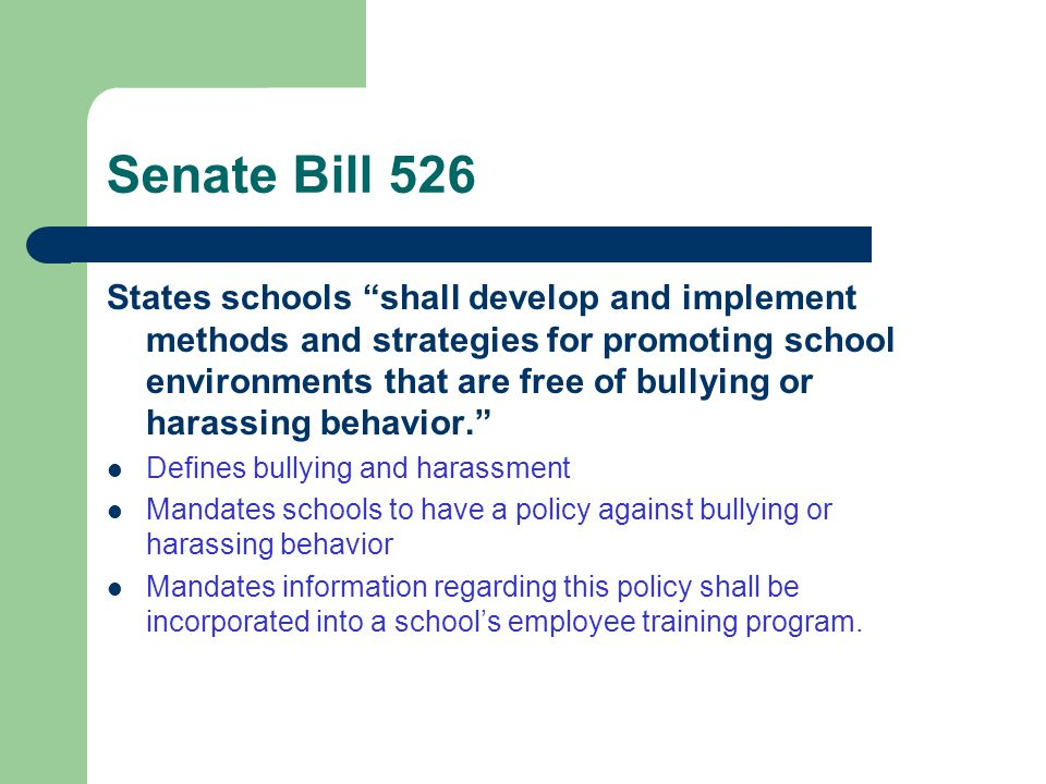 Senate Bill 526