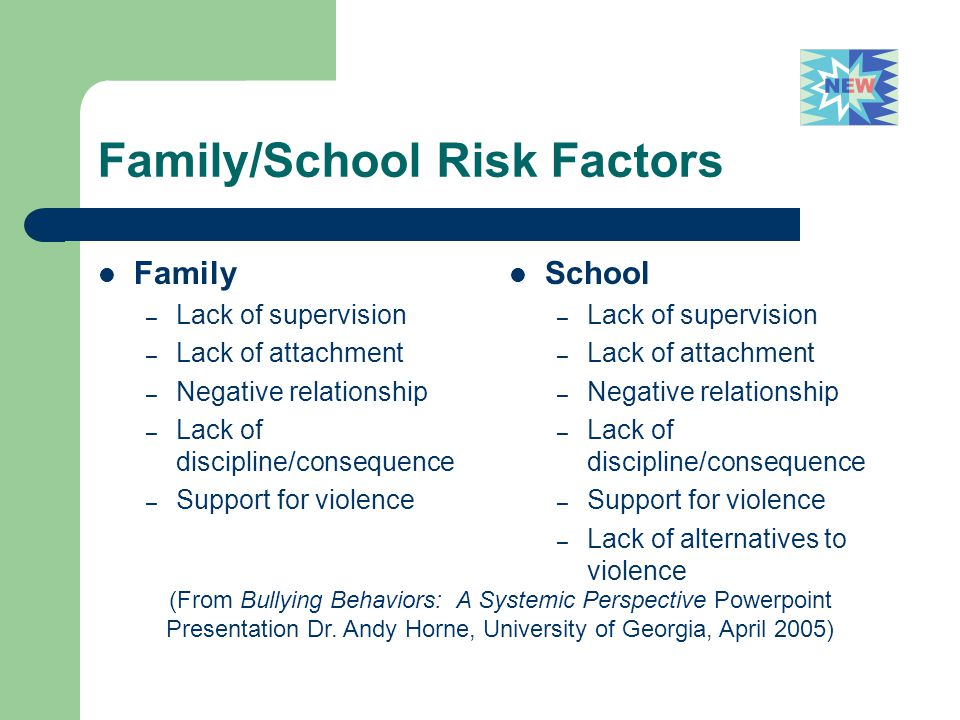 Family/School Risk Factors