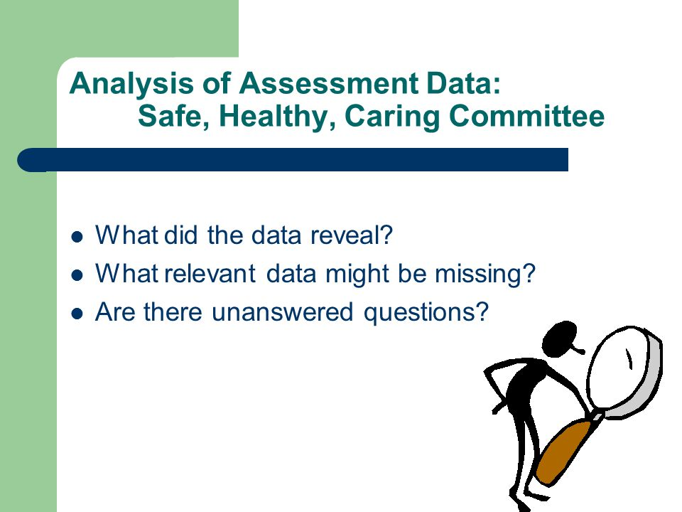 Analysis of Assessment Data: Safe, Healthy, Caring Committee