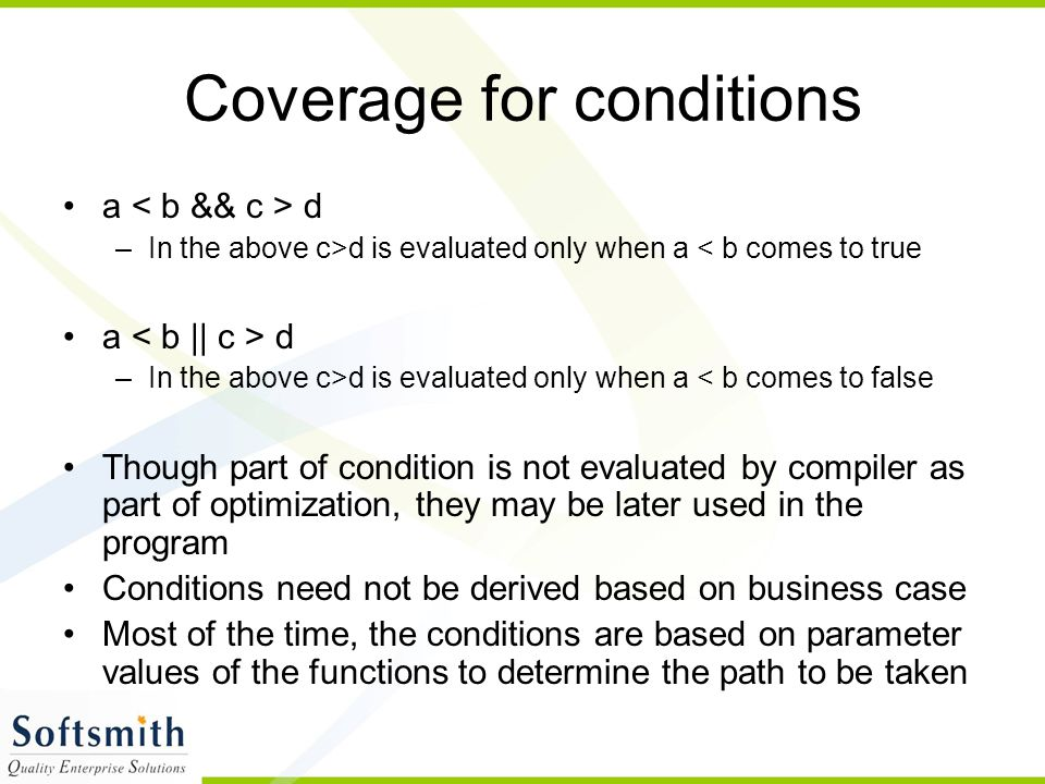 Coverage for conditions