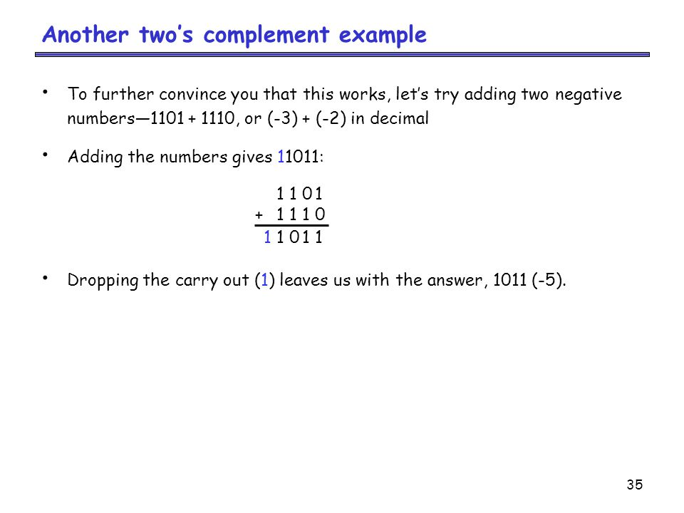 Another two's complement example