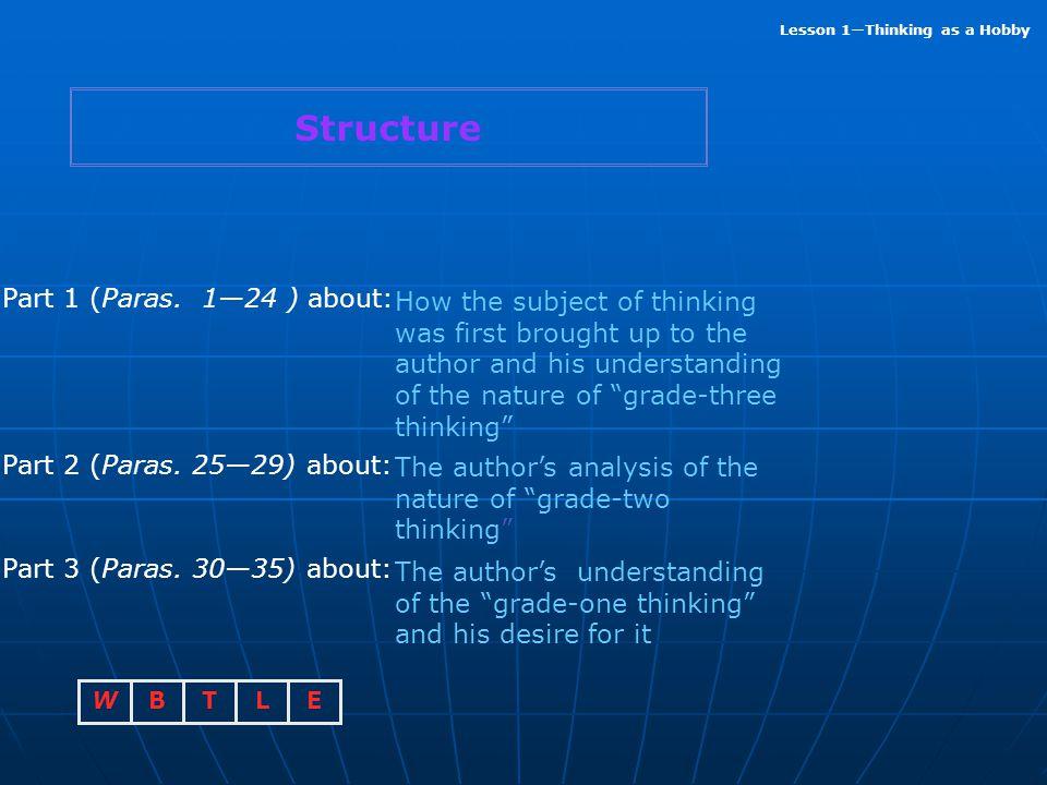 Structure Part 1 (Paras. 1—24 ) about: Part 2 (Paras. 25—29) about: