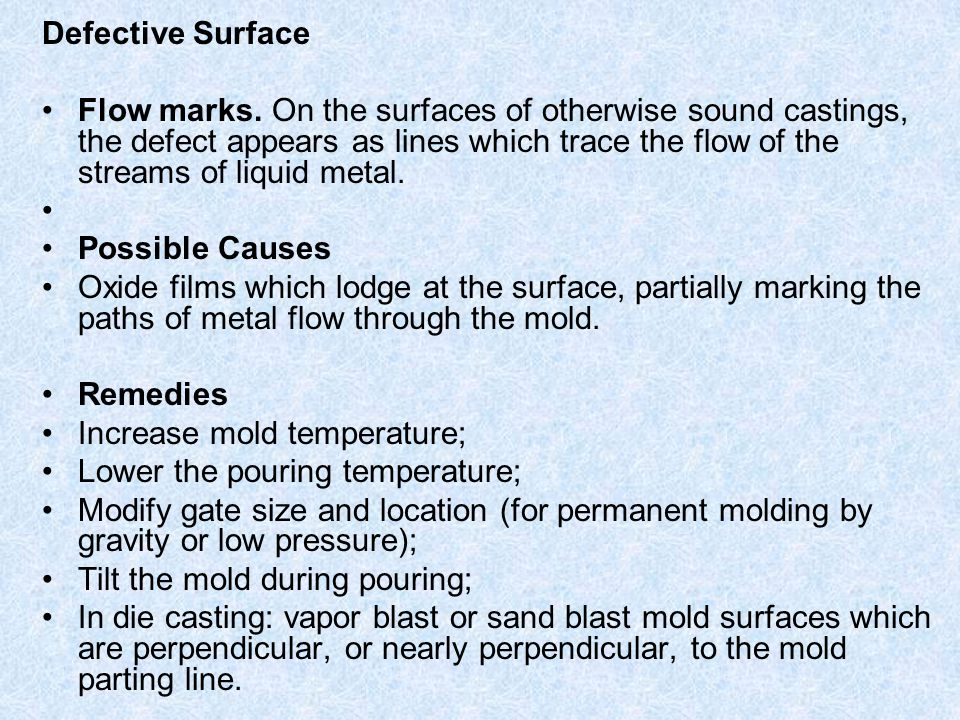 Defective Surface