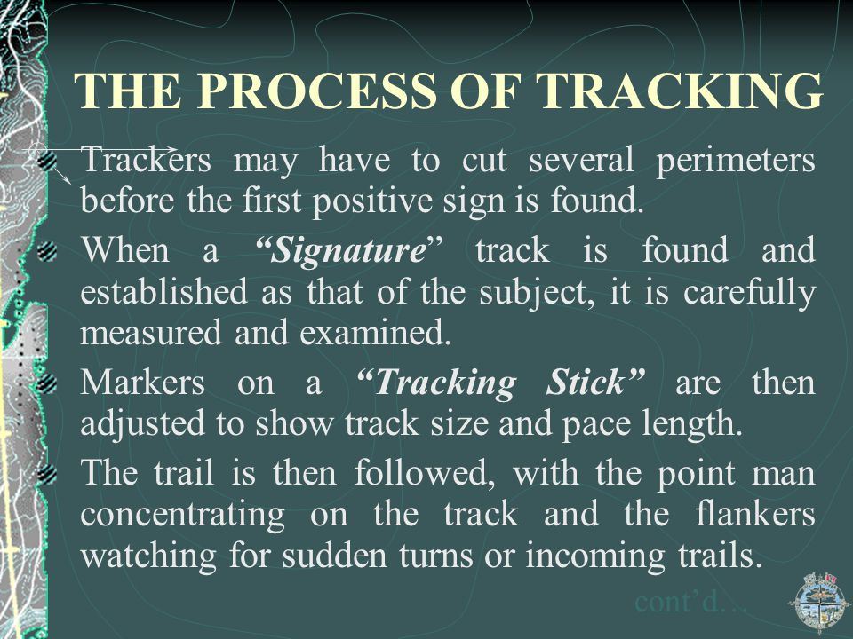 THE PROCESS OF TRACKING