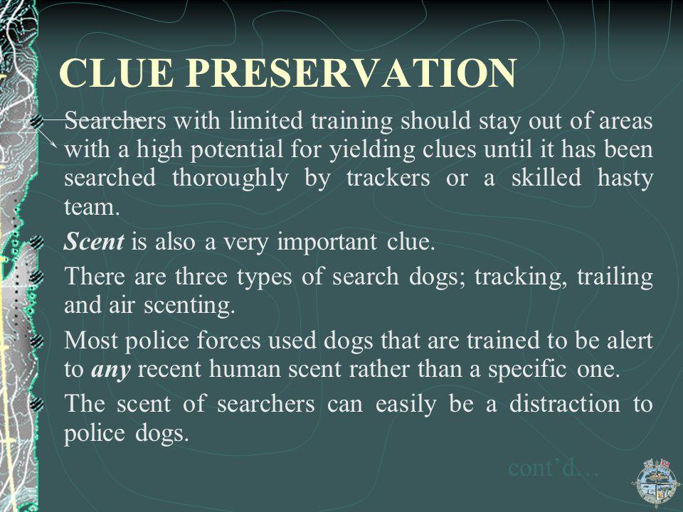 CLUE PRESERVATION