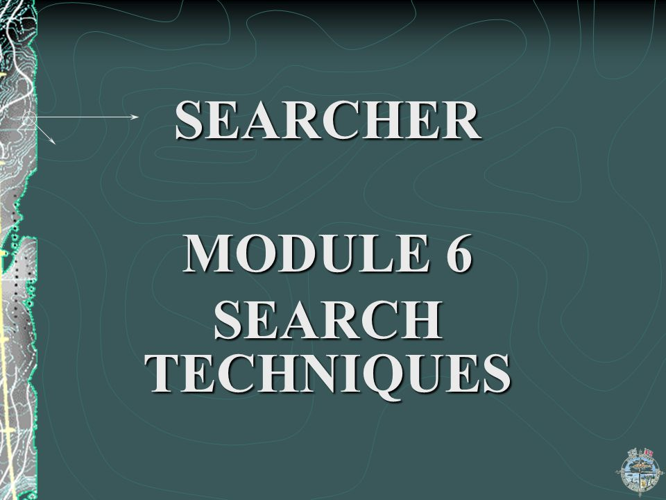SEARCHER MODULE 6 SEARCH TECHNIQUES