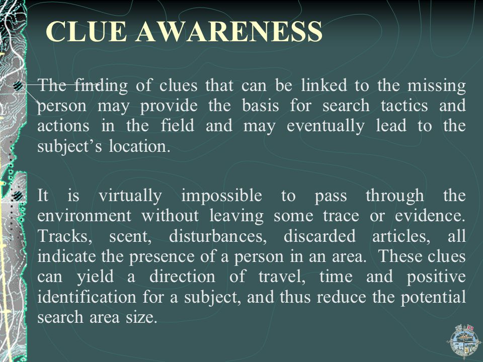 CLUE AWARENESS