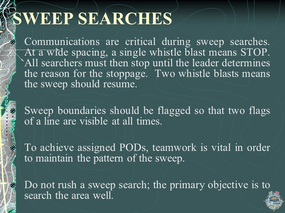 SWEEP SEARCHES