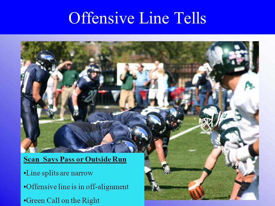 Offensive Line Tells Depth Of Offensive Line Splits