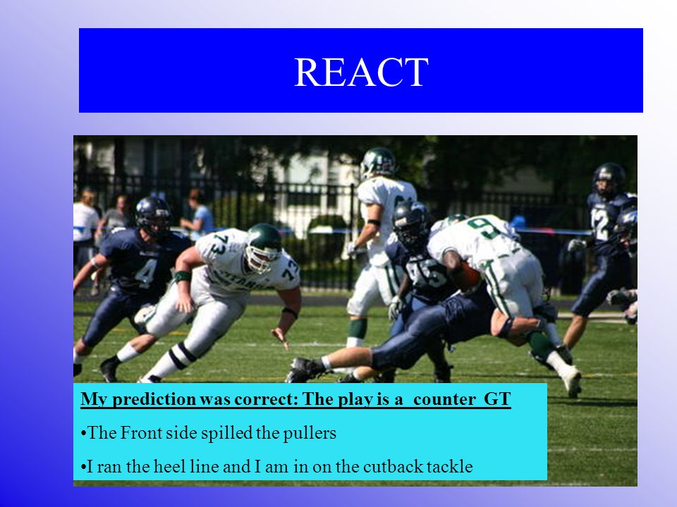 REACT React To The Movement Of The Offensive Lineman