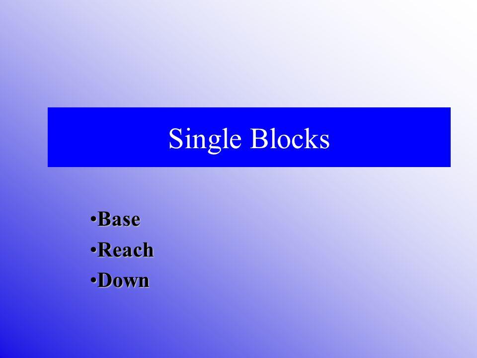 Single Blocks Base Reach Down