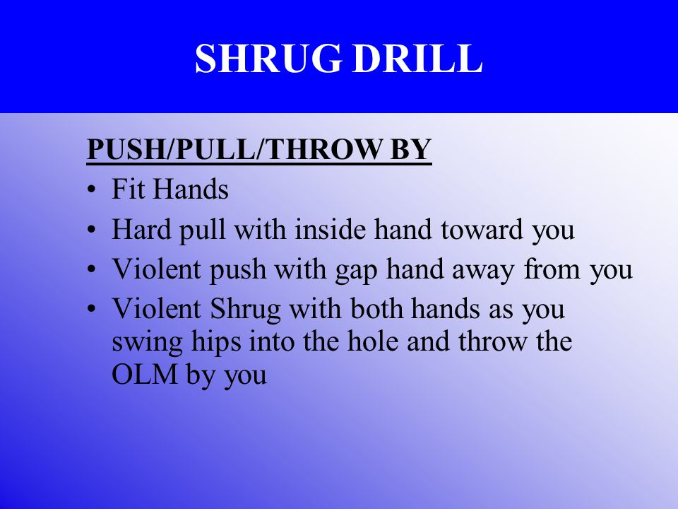 SHRUG DRILL PUSH/PULL/THROW BY Fit Hands