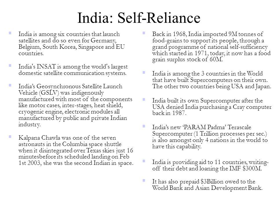 India: Self-Reliance