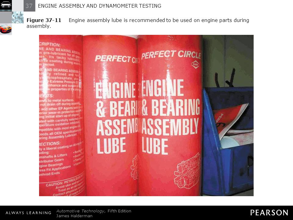 Figure 37-11 Engine assembly lube is recommended to be used on engine parts during assembly.