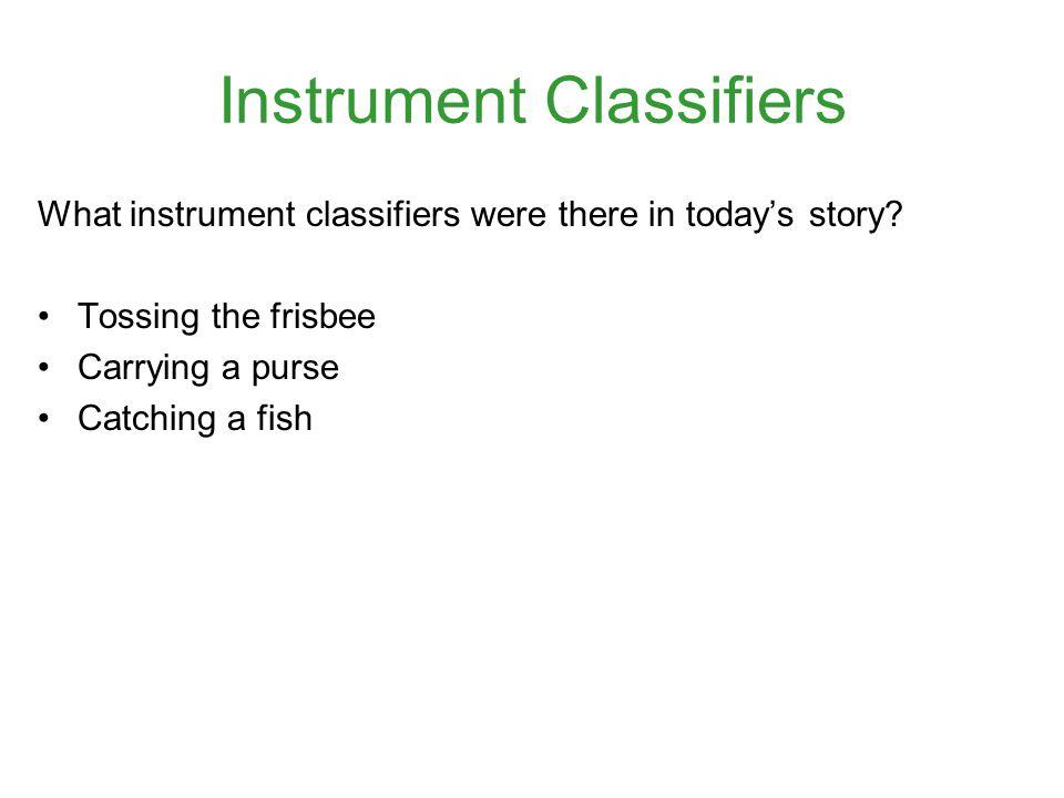 Instrument Classifiers