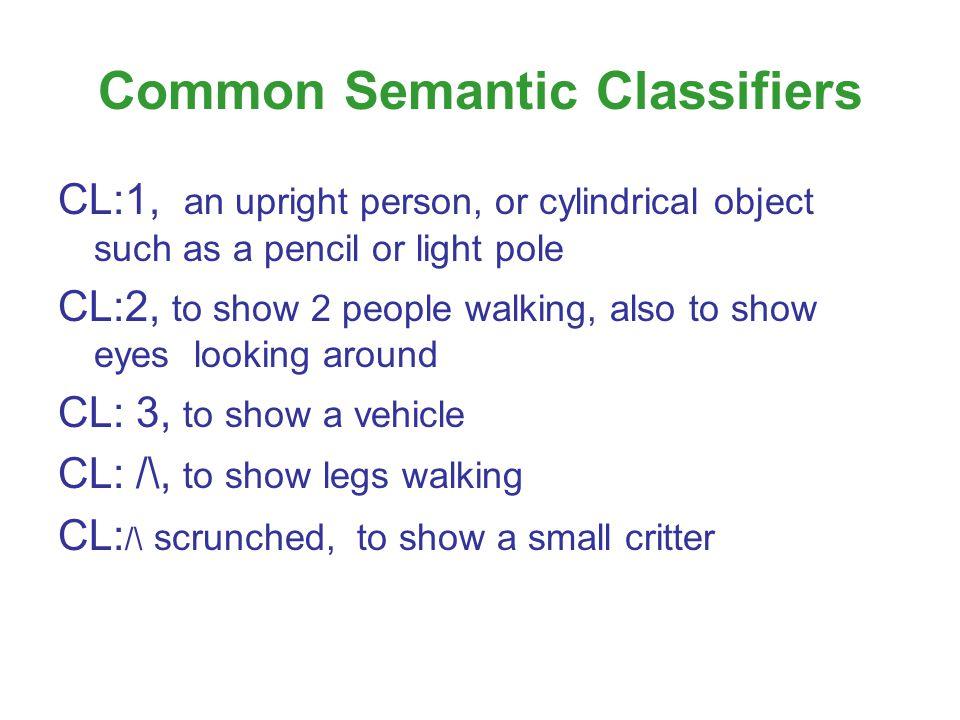 Common Semantic Classifiers
